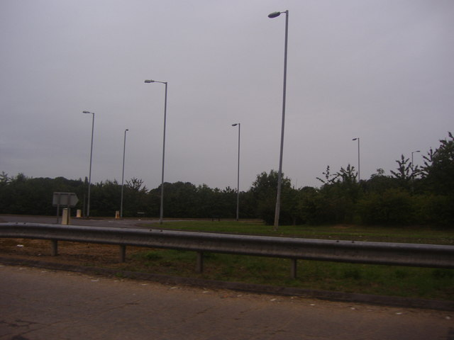 Overlooking the roundabout on the A6,Streatley
