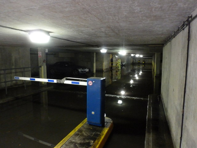 Bournemouth: Town Hall Extension car park underwater