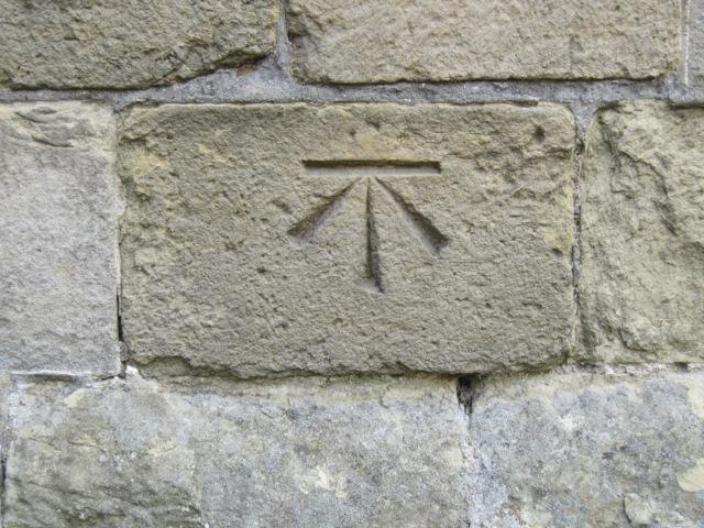Bench mark on St Michael's, Bempton