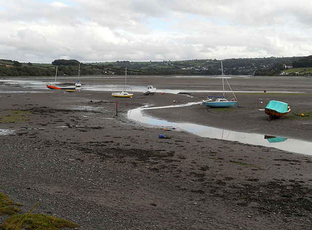 High and dry at low tide