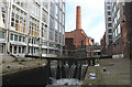 SJ8497 : The Rochdale Canal in Manchester city centre by Michael Fox