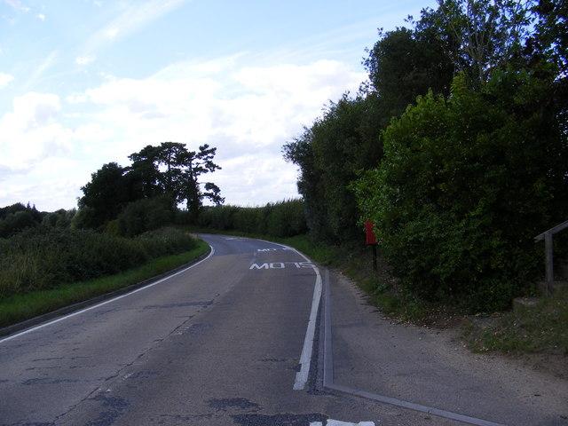 B1079 Woodbridge Road & Prospect Place Postbox