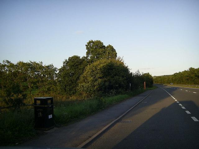 Lay-by on the A48 near Cwmffrwd