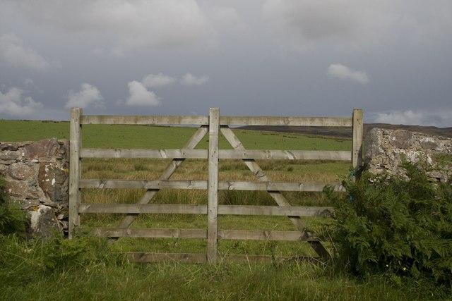 Gate on the B8016, Islay