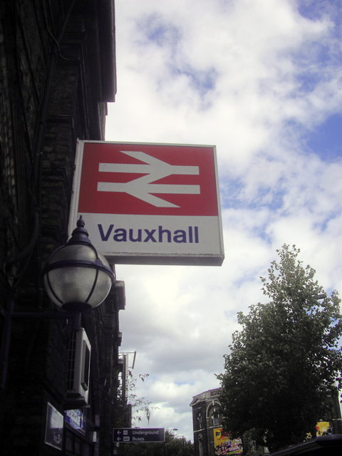 Station Sign Vauxhall