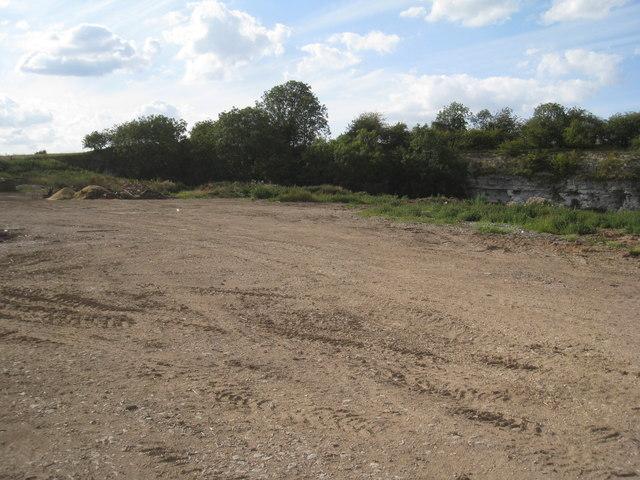 Former chalk quarry