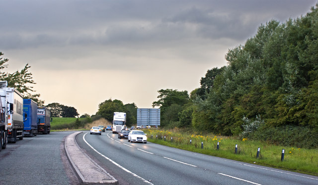 The A500 near Junction 16 on the M6