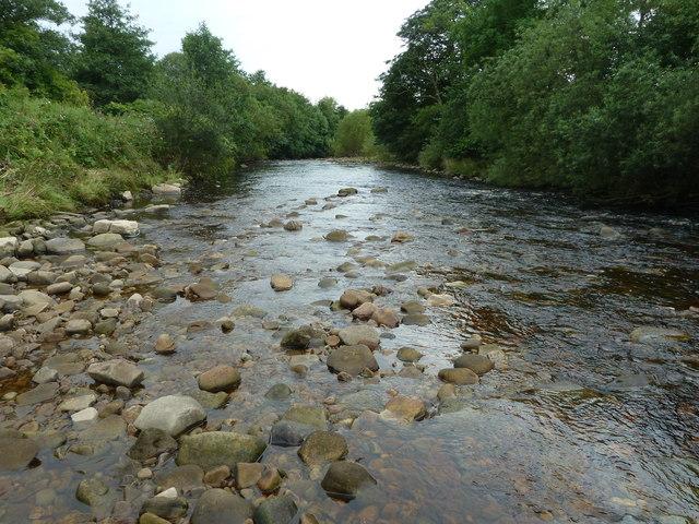 River Hindburn near sewage works