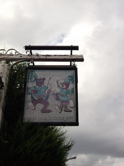 Robin Hood and Little John Pub Sign, Bexley