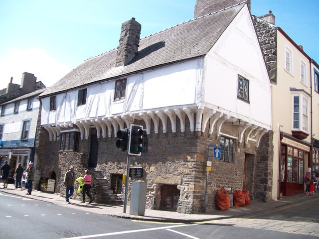 Medieval merchant's house in the High Street Conwy