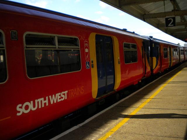South West Trains train at Platform 2, Vauxhall Station
