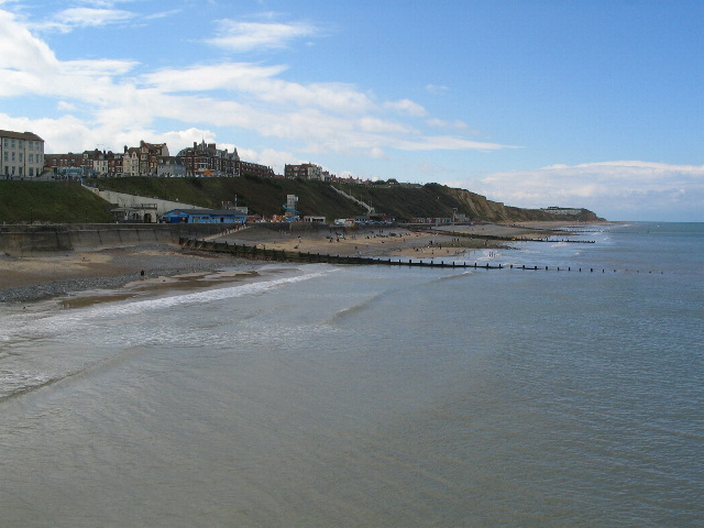 Cromer western sea front