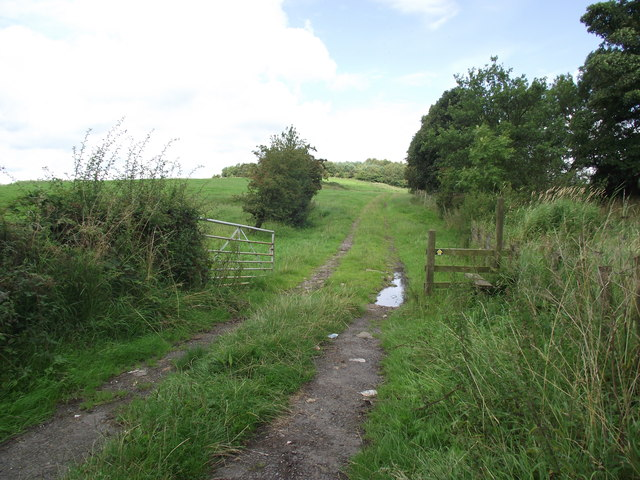 Footpath to Hoolster Hill and Hoolster Farm