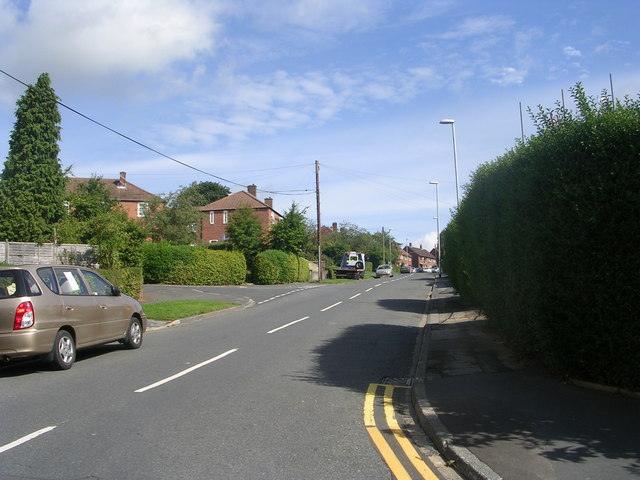 Woodnook Drive - viewed from Silk Mill Bank
