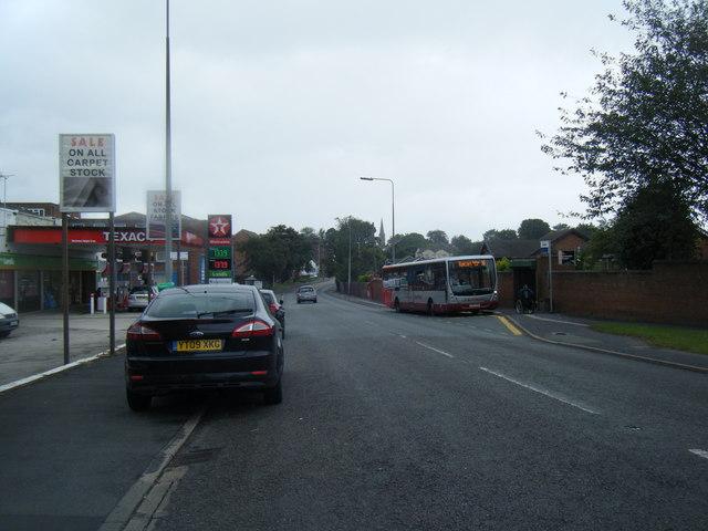 Bridge Lane and Texaco filling station