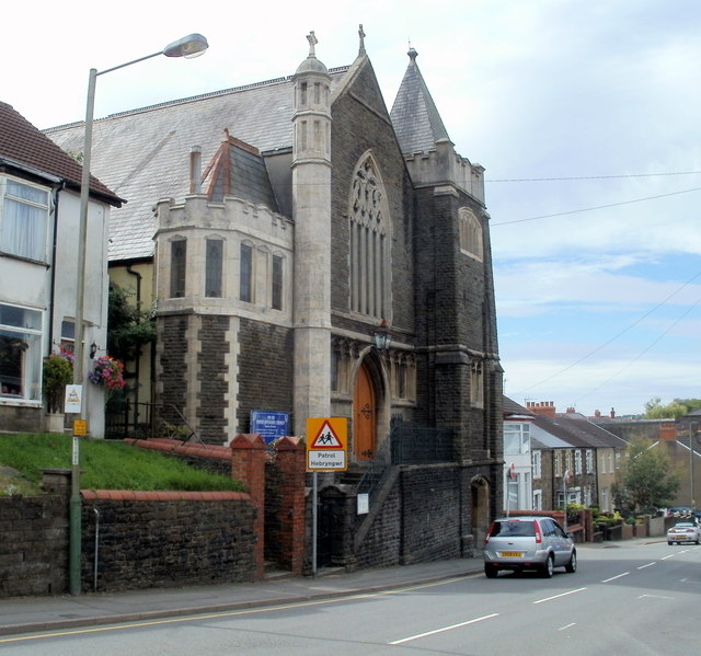 Van Road United Reformed Church Caerphilly viewed from the east