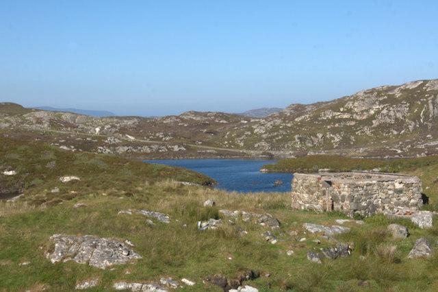 Loch Phlocrapoil from Scadabay (Scadabhagh)