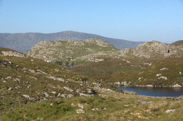Hillsides beside Loch Phlocrapoil