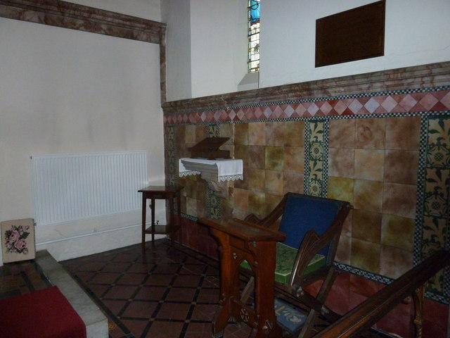 Incumbent's chair at St Mary Ewshot