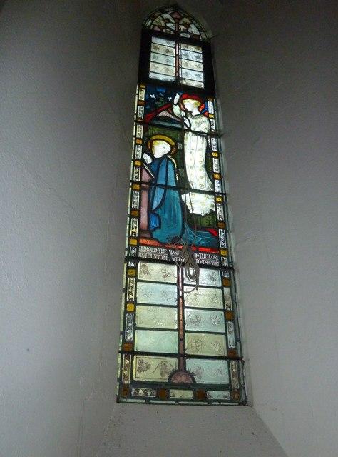 Single lancet window at St Mary Ewshot (a)