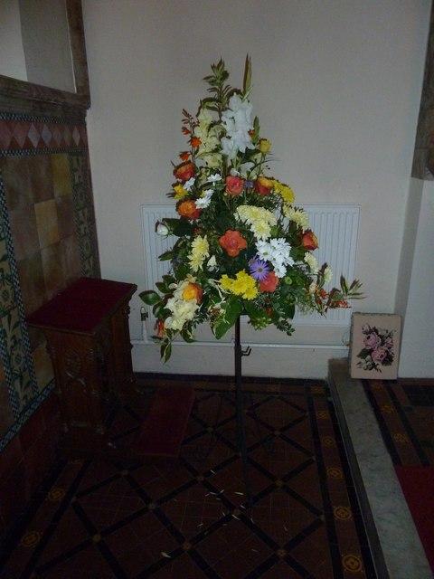 Floral display at St Mary Ewshot