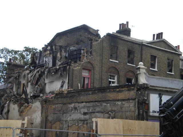 Burn out shops, High Road N17