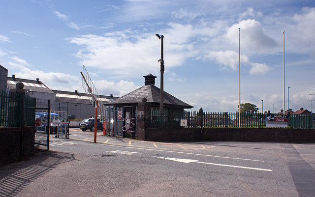 The entrance to the Eternit Works in Derby Road