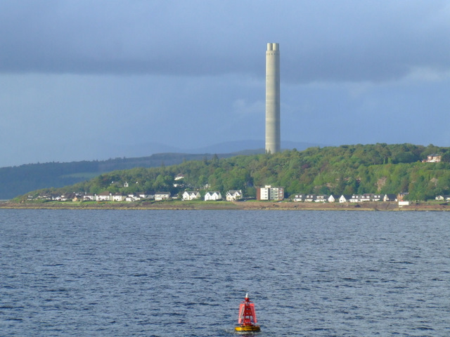 Inverkip Power Station chimney