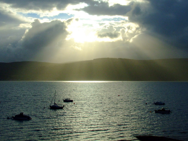 Sunbeams over Inellan