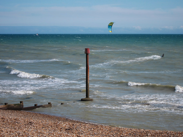 Para sailer off Bexhill Beach