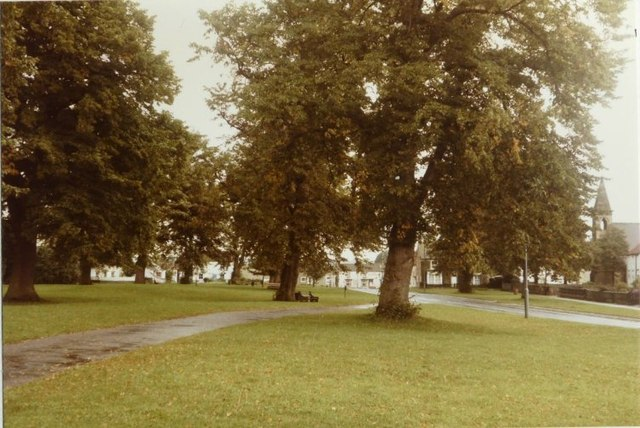 Piercebridge village green in 1984
