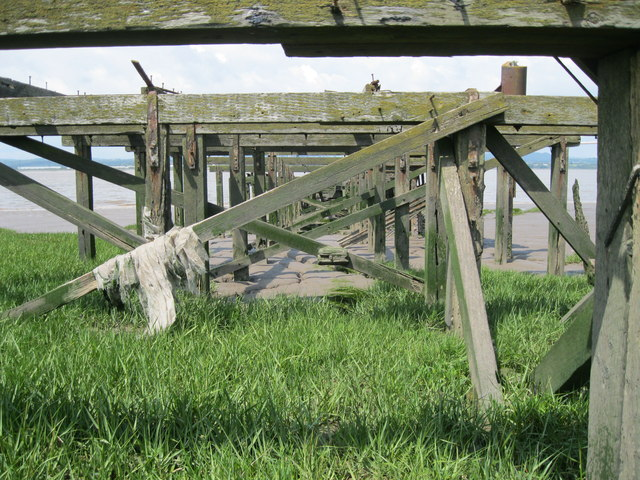 Under the old Aust Ferry slipway