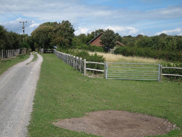 Track past Meadowdown