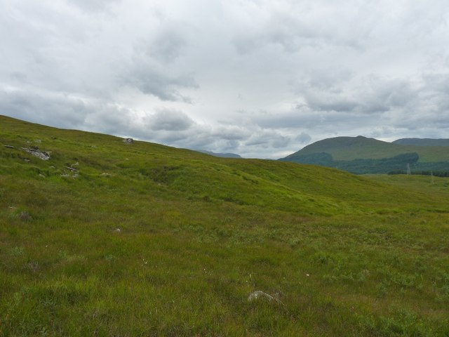 Looking south across slopes of Beinn an Dothaidh