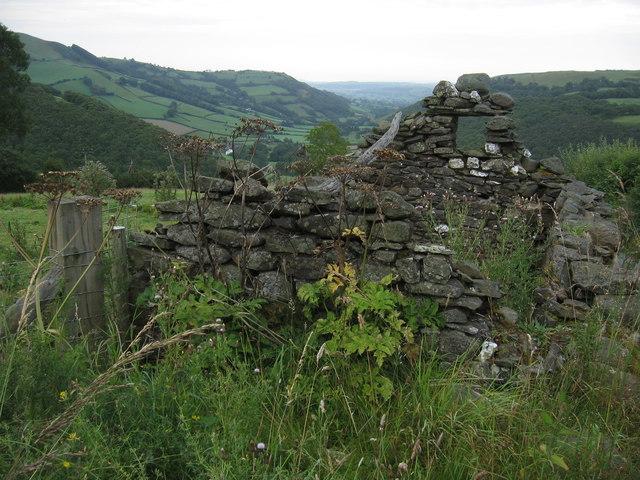 Ruin, above Llawer y Glyn