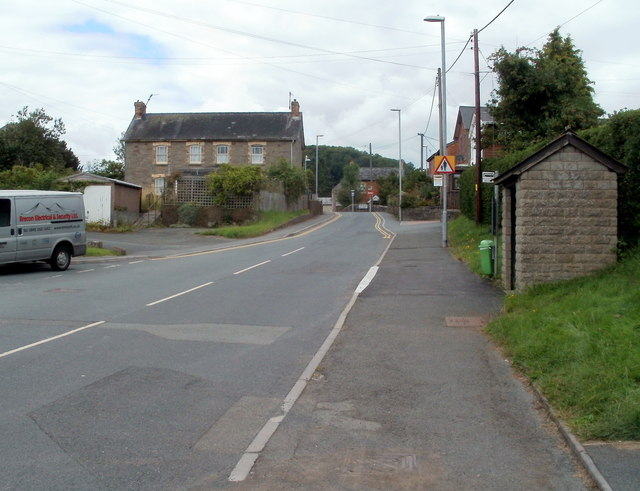 A view NW along Church Street, Bronllys