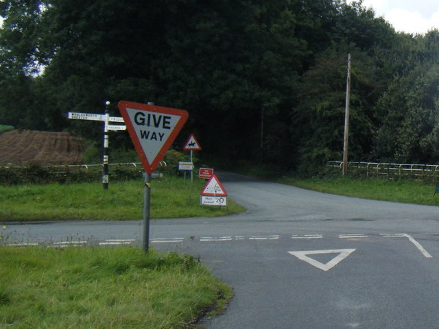 Four Lane Ends junction