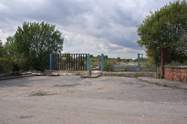 Derelict land - presumably zoned for industry