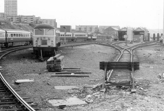 Gateshead Traction Maintenance Depot, 1985