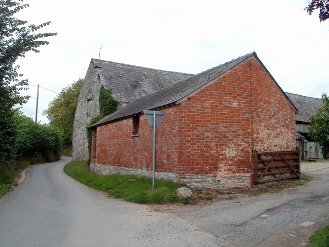 Bronllys Court farm buildings