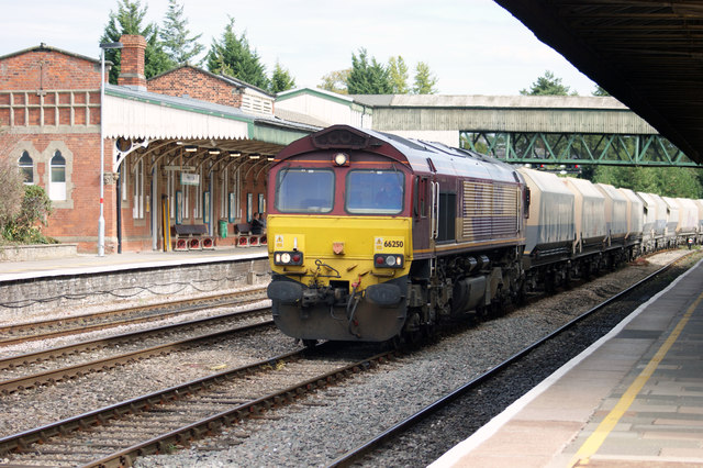 Northbound Freight Train at Hereford
