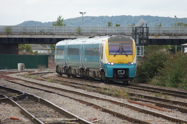 Arriva Trains Wales Multiple Unit at Hereford