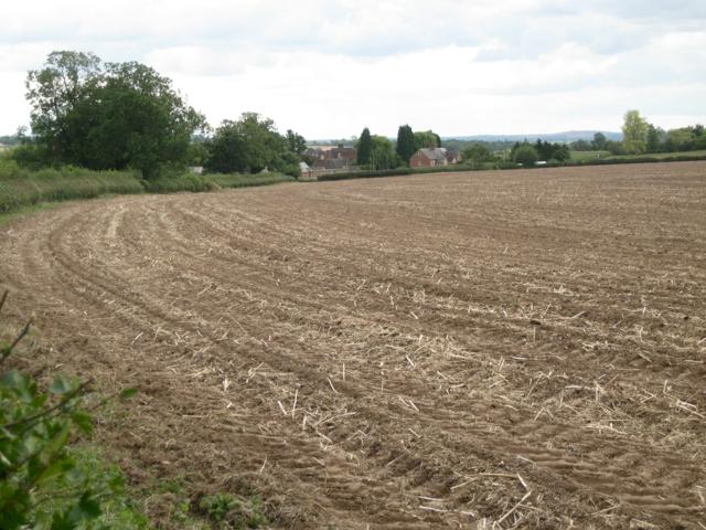 A harvested field near Cottage Farm