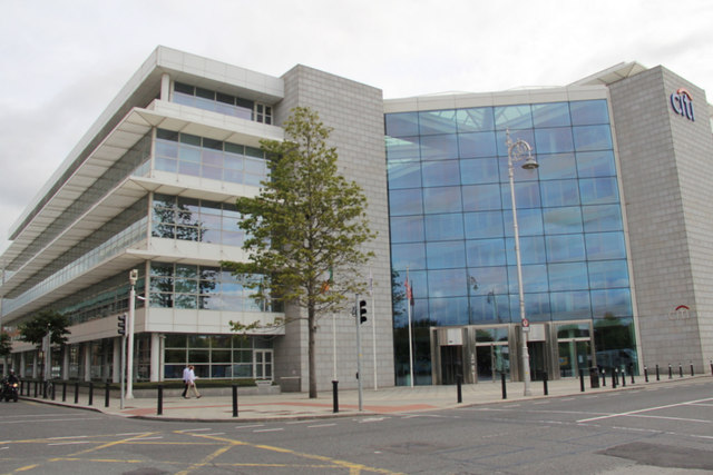 Modern Building, Custom House Quay, Dublin, Ireland
