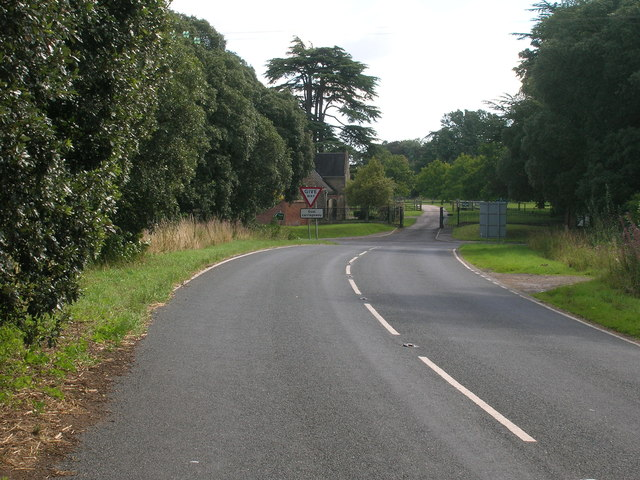 Minor road towards the A19