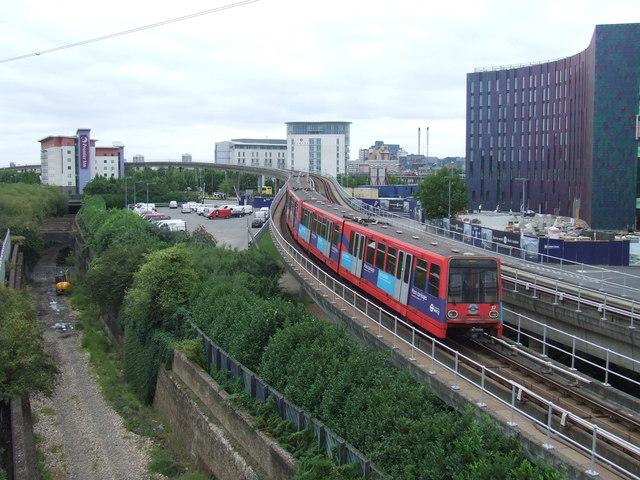 DLR leaving Prince Regent