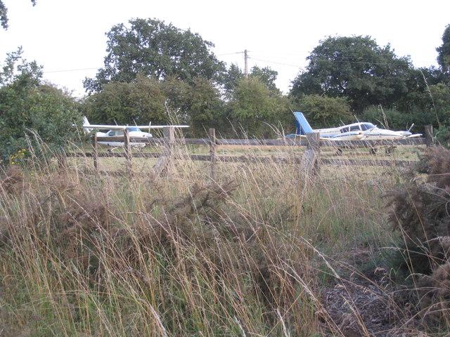 Light aircraft at Carr Farm