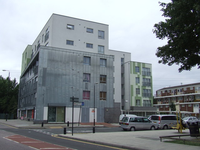 Modern building, Prince Regent Lane, E16
