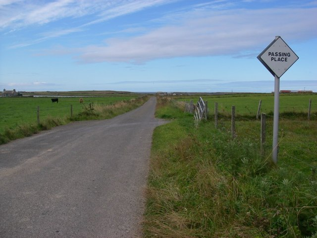 Passing place at Burness