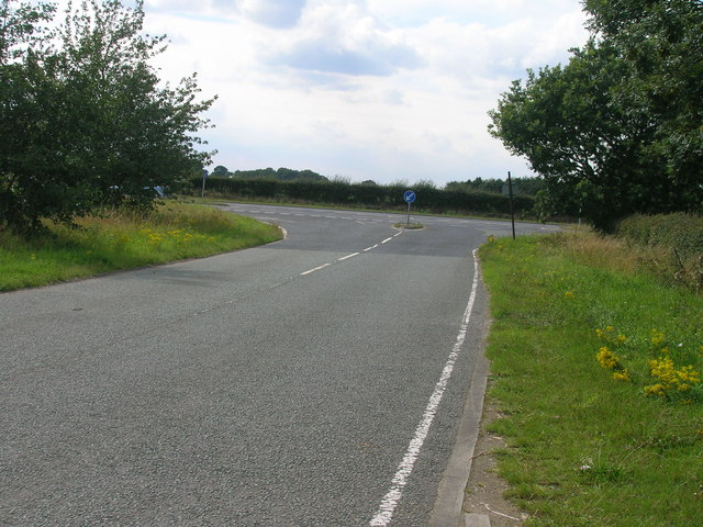 Minor road junction with the A19